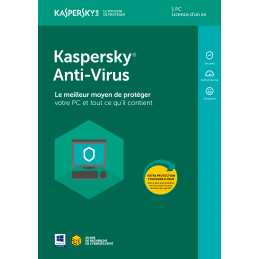 KASPERKY ANTIVIRUS 1 PC / 1 AN